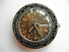 Vintage Watch RAKETA, World time. Cities, SOVIET/USSR, RUSSIA