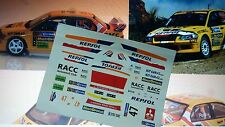 "DECAL CALCA 1/32 SLOT MITSUBISHI EVO VII ""RESPOL"" X. PONS RALLY MEXICO 2004"