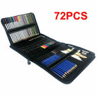 72pc Professional Artist Pencils Set Drawing Sketching Colouring Art Kit Adult