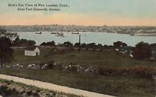 Antique POSTCARD c1907-20 Birds Eye View from Fort Griswold GROTON, CT 16678