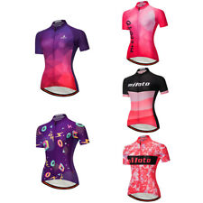 Women's Reflective Biking Jersey Jacquard Cycling Bicycle Short Sleeve Tights
