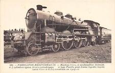 CPA THEME TRAIN PARIS LYON MEDITERRANEE MACHINE 6102 A SURCHAUFFEUR