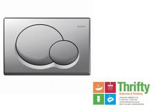Geberit Samba Inwall Cistern Buttons 115.770.46.1 Satin Chrome WELS