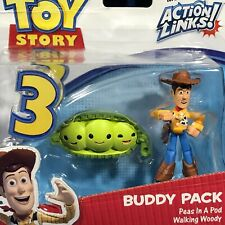 PEAS IN A POD & WALKING WOODY Pixar Toy Story BUDDY PACK FIGURE Cake Topper 2-Pk
