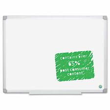 Mastervision Earth Easy Clean Dry Erase Board Whitesilver 36x48 Ma0500790