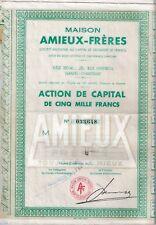 Actions 5000 francs Maison Amieux-Frères - 1959 (9 actions)