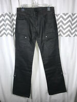 Oakley Size 8 Gray Straight Leg Outdoor Hiking Pants Coated Canvas 29x33 Womens
