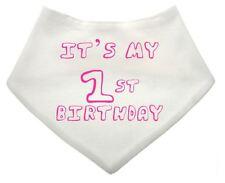 IT's il mio primo compleanno bianco personalizzato Baby Dribble Bib rosa regalo bambini