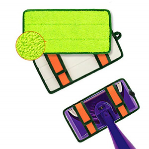 Reusable Mop Pads, 2 Pack Washable for Swiffer Wet Jet Pads Refills, Microfiber