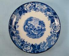 English Scenery Blue Saucer For Demitasse Cup Wood & Sons Blue Transferware (O2)