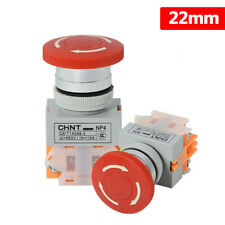 22mm Emergency Stop Push Button Switch E Stop Switch Mushroom Switch Onoff Np4