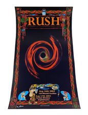 Rush Aug 16 17 2002 Concert Poster MacRae Masse Signed Print 12x22 Peart Lifeson