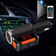12V Car Kit Wireless Bluetooth FM Transmitter MP3 Player Hands Free & 2 USB Port