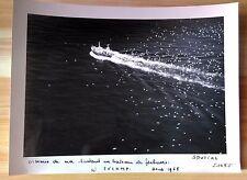 """ANCIENNE PHOTO AÉRIENNE de ROGER HENRARD  1965 """" BATEAU DE PECHEURS À FÉCAMP """""""