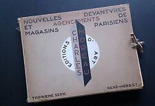 Portefeuille moderniste art deco Magasins Paris architecture design intérieur Ch. Moreau