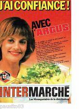 PUBLICITE ADVERTISING 116  1986   Magasins supermarché  Intermarché