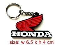 HONDA Rubber classic Motorcycle Wing Keychain / Keyring Collectables cs # 2