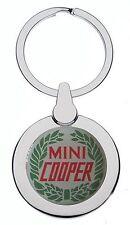 MINI COOPER GREEN LEAF CHROME KEYRING