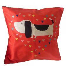 Housse de Coussin 45x45 petit chien fond orange