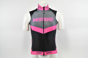 Verge Women's Medium Triumph Mid Flight Cycling Vest Black/Pink/Grey CLOSEOUT