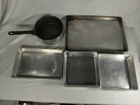 5 PC MIRRO Vintage Aluminum Pan, Pot Set Square, Rectangle, Classic Kitchen
