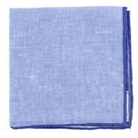 Fiori Di Lusso Bleu Solide Lin Poche Carré - X - (819)