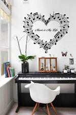 Música 45 Notas Pegatina Vinilo Pared Amor Arte Decoración Hogar Habitación Alto