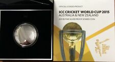 2015 $5 ICC cricket World Cup fine silver proof domed coin 1oz