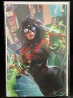 Spider-Woman #1 Derrick Chew VIRGIN Variant w/ COA Comic Mint Exclusive NM+