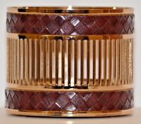 Bath & Body Works Woven Vegan Leather 3 Wick Candle Sleeve Holder New