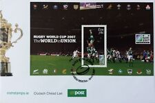 Ireland Stamps, First Day Cover, Rugby World Cup 2007 Miniature Sheet- 20/8/2007