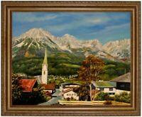 Ölbild Ellmau Tirol Kaisergebirge, wilder Kaiser Gemälde HANDGEMALT F:50x60cm