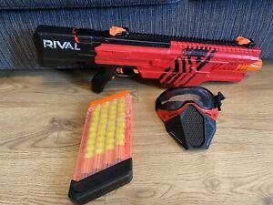 NERF RIVAL KHAOS MXVI-4000 GUN BLASTER RED MAGAZINE 40 FOAM BALLS & RED MASK