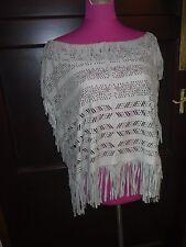 Stunning  All Saints Indi Suede Tassle Top Grey Size 12 BNWOT