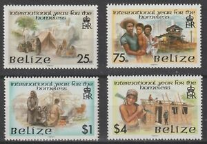 Belize 1987 #878-81 International Year of Shelter for the Homeless - MNH