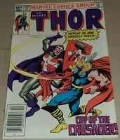 THOR #330 (1983) NEWSSTAND EDITION VS CRUSADER 1ST APP CRUSADER! IN HIGH GRADE