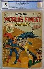 WORLD'S FINEST COMICS #71 CGC .5 GOLDEN AGE BATMAN SUPERMAN TEAM-UP