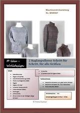 PDF Strickmaschine Anleitung 2 Raglanpullover step by step MS00307