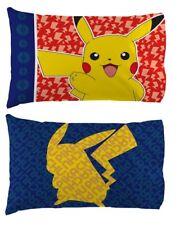 POKEMON Pikachu Reversible Pillow Case NeW Soft Microfiber Standard Pillowcase