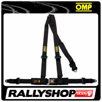 OMP ROAD 3 3 POINTS BLACK SEATBELT Harness Belts Race Racing Rally DA504071