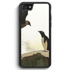 Pinguin & Vogel Silikon Hülle für iPhone SE 2020 Motiv Design Tiere Schön Süß...