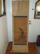 Antique Japanese Koi Scroll 77 X 24.50