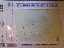 Microscale Decal N  #60-4162 CSX Diesel Data Dates:1985+