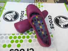 CROCS CROCBAND WINTER FLAT OLIVIA ALICE MARY JANE PRIMA SHOE~Purple Plum~W 8~NWT