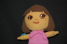 "DORA THE EXPLORER MAUVE SHIRT ORANGE SHORTS DOLL Plush Stuffed Animal Lovey 7"""