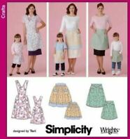 Simplicity Sewing Pattern 4692 Misses Childs Aprons Size S-L S-L