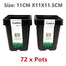 72 X Square Plastic Garden Nursery Pot 11cm Starter Propagation Seeding Pots