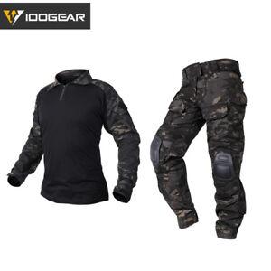 IDOGEAR Tactical G3 Combat Uniform Shirt & Pants BDU Set Gear Clothing Hunting