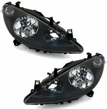 black clear finish headlights front lights set for PEUGEOT 307 00-05 with fog