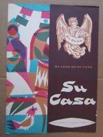 1950s Su Casa Restaurant Menu, Cover Art by Archie M. Schrom, Chicago Ill